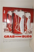 "Budweiser Grab Some Buds metal Sign 21"" x 21"""