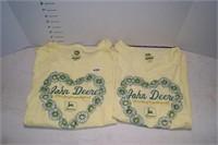 John Deere Yellow Ladies Shirt Size Small