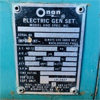Onan Diesel Generator, read. Pic of tag for info,