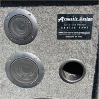 Pair of Acoustic Design Series 1201 Speakers