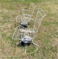 Matching  Rocker/Swivel Metal Outdoor  Chairs