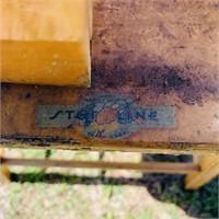 Vintage Wood High Chair w/Fiberglass Tray