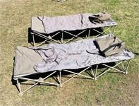 """2 Fold up Cots w/ bags 6' L x 27"""" w"""