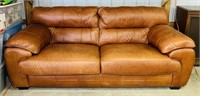 "LANE Leather Couch, 93"" long. No holes"