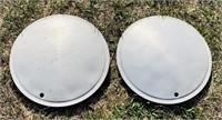 """2 Full Moon Hubcaps, 15""""diameter"""