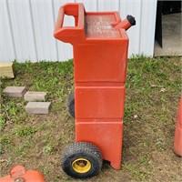 3 Portable Gas Tanks, Gas Dock 25 Gallon