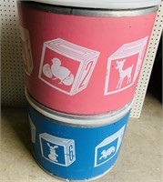 """2 Containers w/Lids  20"""" wide x 16"""" high"""