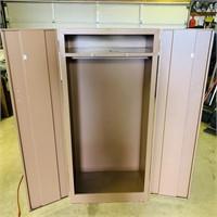 """2 Door Metal Cabinet 28"""" w x 5ft high x 19"""" deep,"""