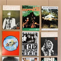 12 Rock and Roll Band Post Cards