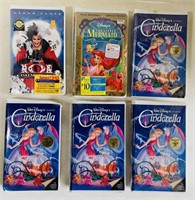 6 SEALED VHS Movies