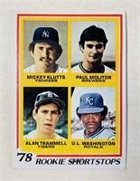 1978 Rookie Short Stops #707 Baseball Cards