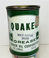 Quaker Grease Can 1lb. Some Grease in it