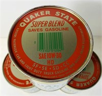 (3) Quaker State 1qt Super Blend Motor Oil, FULL