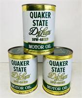 (3) Quaker State DeLuxe 1qt FULL Motor Oil