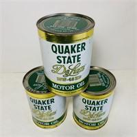 (3) Quaker State DeLuxe 1 qt FULL Motor Oil