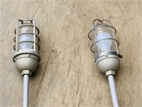 Industrial lights, 4ft long, Both are corded