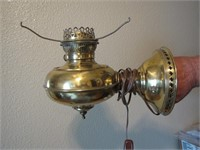 2 Vtg Fenton Quilted Diamond Brass Wall Sconces