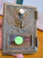Antique Brass Soaring Eagle Post Office Box Door