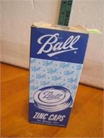 Box of 12 Vintage Ball Zinc Jar Caps