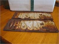 1931 Neb License Plate Set 46-2375