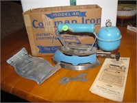 Vtg Coleman Model 4A Iron with Box & more