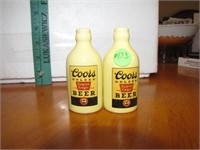 Vtg Coors Export Lager Pottery S&P No Stoppers