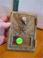 Antique Brass Soaring Eagle Post Office Box Door