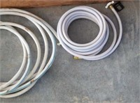 RV  adapter cord 2 TV extension cords 2 RV hoses