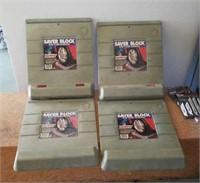 4 saver blocks for the garage