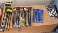 40 Long drill bits some are masonry bits