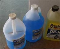 Bug remover deicer, washer fluid