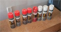 8 cans of marker paint