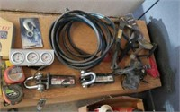 Jumper cables,  air conditioning manifold,