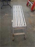 "39""x12"" folding platform ladder."