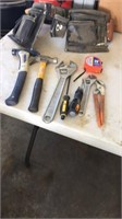 Miscellaneous tools and tool belt.