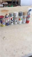 Miscellaneous spray paint.