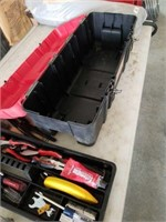 Craftsman toolbox full of miscellaneous tools.
