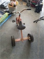 Old style fat wheeled trike.