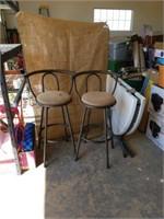 "2 swivel bar stools 29"" seats"