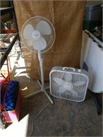 Stand up and a box fan.