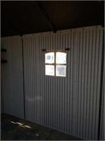 "116""x92""x92"" lifetime vinyl storage shed on"