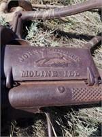 """Vintage John deere  mower. 77"""" mower arm."""