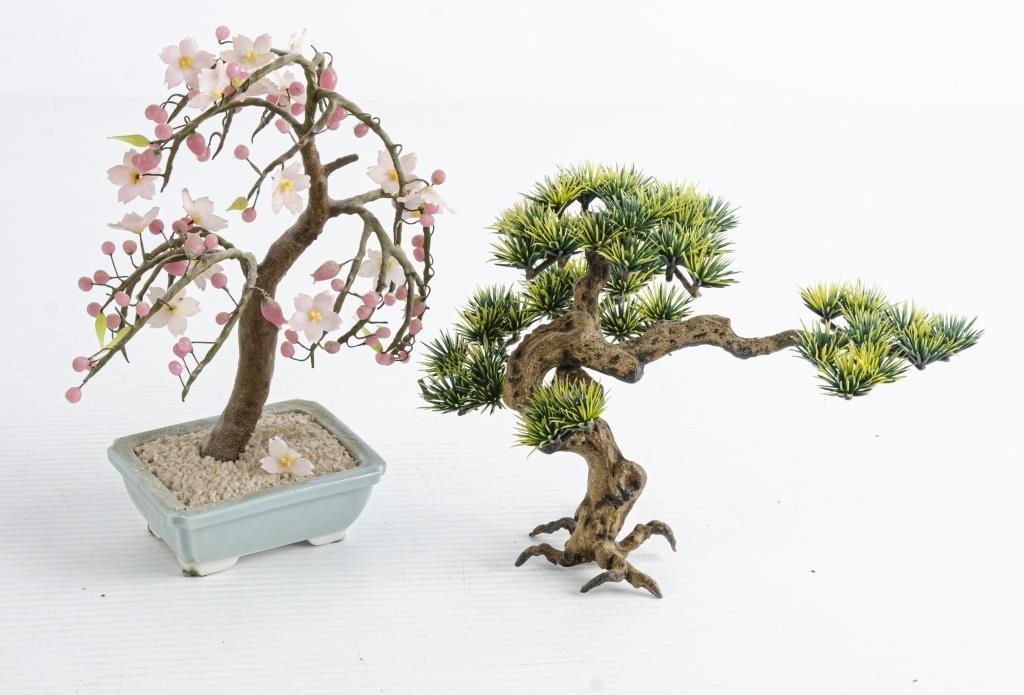 Set Of 6 Jeweled Stone Bonsai Style Trees The K And B Auction Company