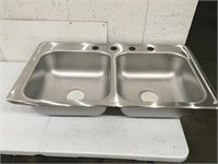 Dayton Double Sink Open Box Has Small Dent
