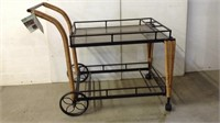Tea Cart All Weather Resin Wicker