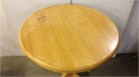 Wooden High Top Table with 2 Swivel Chairs