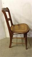 Wooden Wicker Seat Chair