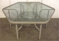 Glass Patio Table with 4 Chairs