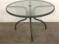 """42"""" Diameter Round Glass Top Table"""