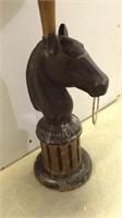 Horse Head Standing Ashtray